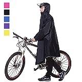 メンズ ロングコート Aosovs レインコート 自転車 バイク レインポンチョ ロング ポンチョ レディース メンズ 男女兼用 通勤通学 フリーサイズ 完全防水 高品質 四季通勤 収納袋付き 5カラー (ネイビー)