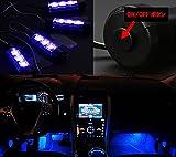 Mercury 車内 装飾 用 フロア イルミネーション LED ライト 青 ブルーライト × 4個 ナイトロードの視線を釘付け! シガーソケット 簡単 取り付け!