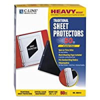 C-Line Traditional Polypropylene Sheet Protector, Heavyweight, 11 x 8 1/2, 50/BX [並行輸入品]