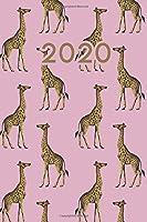2020: Dated Goal Planner Focus Weekly Monthly Giraffe Zoo Planner
