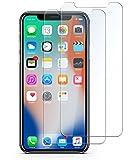 iPhone X 強化ガラス液晶保護フィルム 高感度タッチ/気泡ゼロ/業界最高硬度9H透過率99.9%/飛散防止指紋防止 Apple専用に設計【日本製素材旭硝子製】(2枚セット)