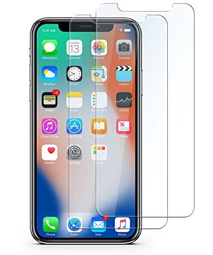 iPhone X 強化ガラス液晶保護フィルム VTACCSO 高感度タッチ/気泡ゼロ/業界最高硬度9H透過率99.9%/飛散防止指紋防止 Apple専用に設計 (2枚セット)【日本製素材旭硝子製】