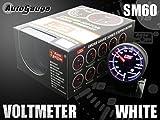 オートゲージ(AUTOGAUGE) 電圧計 SM 60Φ ホワイトLED ワーニング付