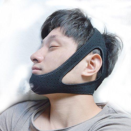 【2018最新版 】静音おやすみマスク Encologi 小顔効果 顎用サポーター 無臭 肌に優しい 閉口睡眠グッズ 寝室の寝音防止 GoodSleepモデル