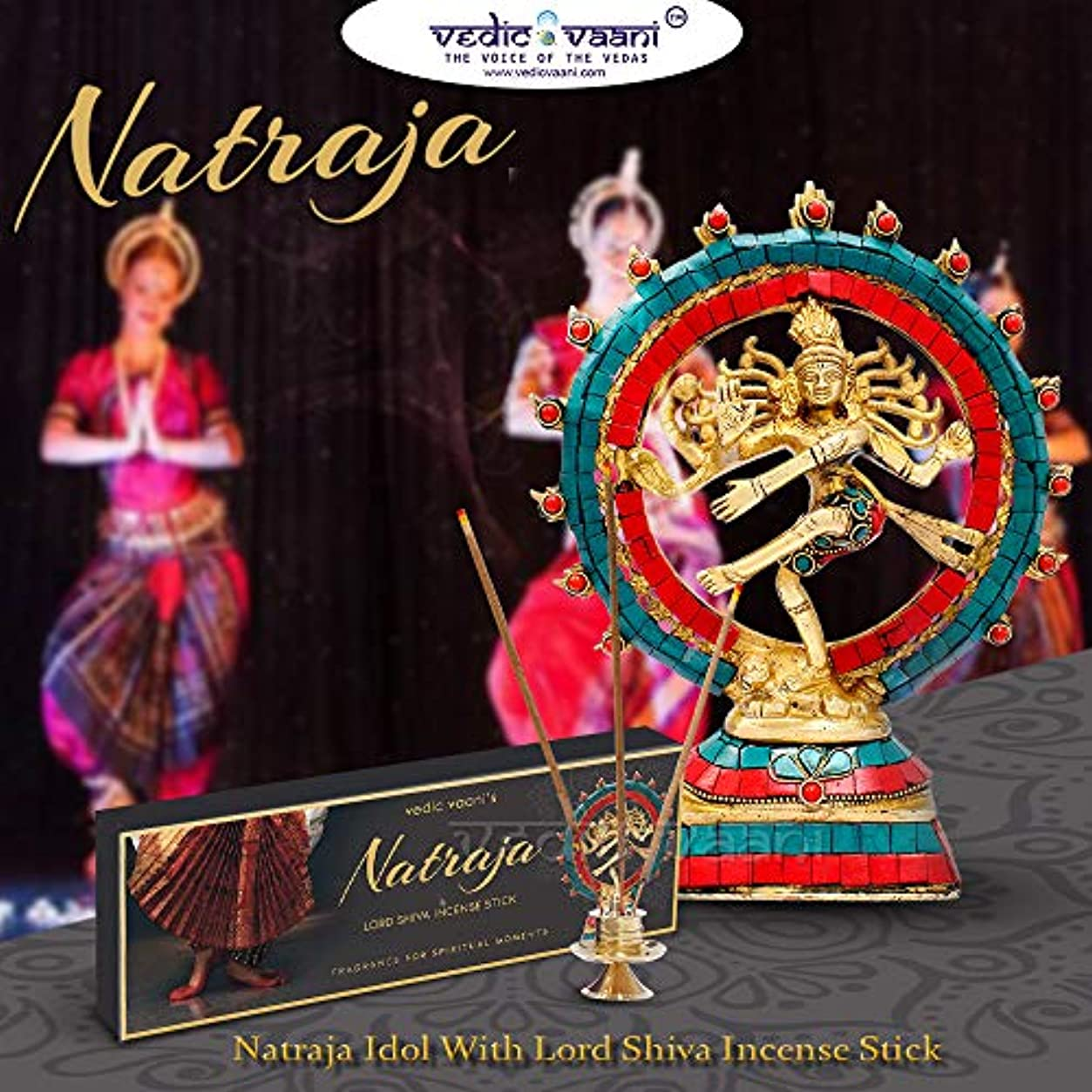 配送個人エッセンスVedic Vaani Natraj (Lord Shiva) 踊る人形 Natraja お香付き - 100 GM