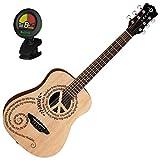 Best ルナアコースティックギター - Luna Safari Peace Travel Guitar w/ ギグバッグ ギターケース Review