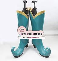 【サイズ選択可】コスプレ靴 ブーツ Z2-0095 絶対迷宮グリム ?七つの鍵と楽園の乙女? 蛙の王子 かえるの王さま 女性25CM