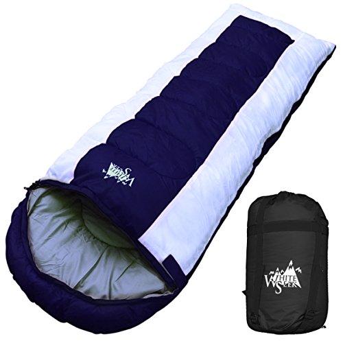 丸洗いOK White Seek 寝袋 シュラフ 封筒型 耐寒温度 -15℃ コンパクト収納 オールシーズン