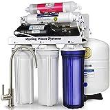 iSpring 123Filter 75GPD 6段階 逆浸透膜 アルカリ PH 浄水システム、ブースター ポンプ付き、型番RCC7PAK