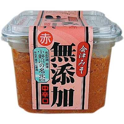会津天宝 生みそ 無添加 赤 650g 8個セット【会津みそ】【会津天寳醸造】【中辛口】