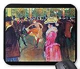 ロートレック『 ムーラン・ルージュの舞踏会 』のマウスパッド:フォトパッド*( 世界の名画シリーズ ) (黒)