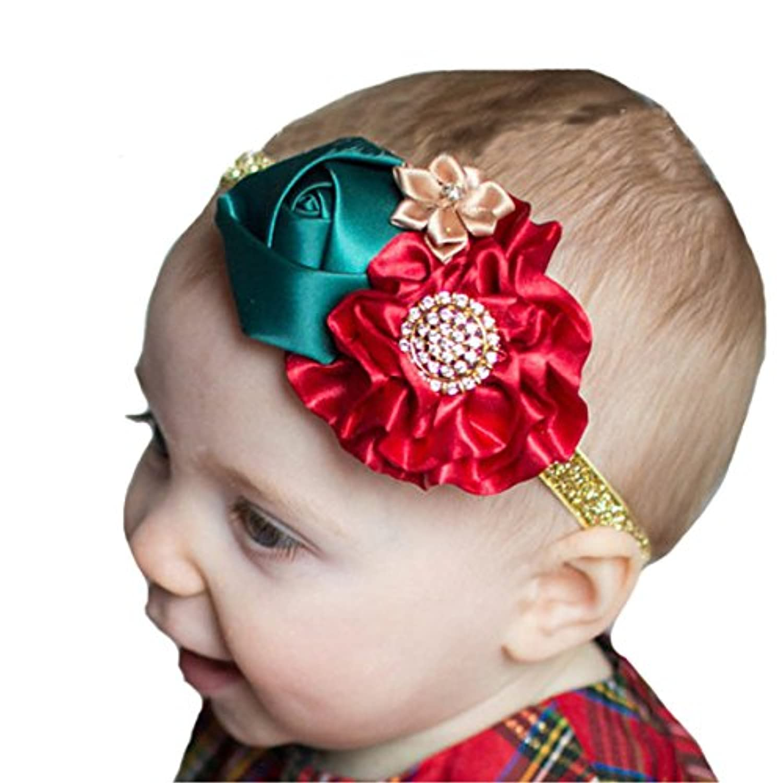miugleベビーゴールドヘッドバンド新生児女の子フラワーヘッドバンド乳児幼児Headdress