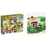 レゴ(LEGO)デュプロ デュプロ(R)のまち みんなのまち 10836 & デュプロ 基礎板(緑) 2304