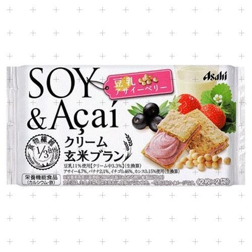 アサヒグループ食品クリーム玄米ブラン豆乳アサイーベリー 72g×6箱