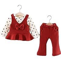 KISBINI 子供服 ベビー服 女の子 ワンピース 赤ちゃん 長袖 tシャツ トップス 秋 冬 可愛い ソ 適当身長60-100cm