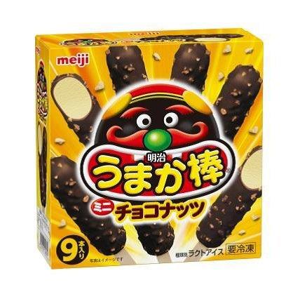 明治うまか棒 ミニチョコナッツ 30ml×9本×8箱