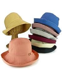 ノーブランド品 洗えるポケタブルバックル付キャペリン レディース帽子