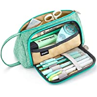 (Green) - EASTHILL Big Capacity Pencil Pen Case Student Office College Middle School High School Large Storage Bag Pouch Holder Box Organiser Green