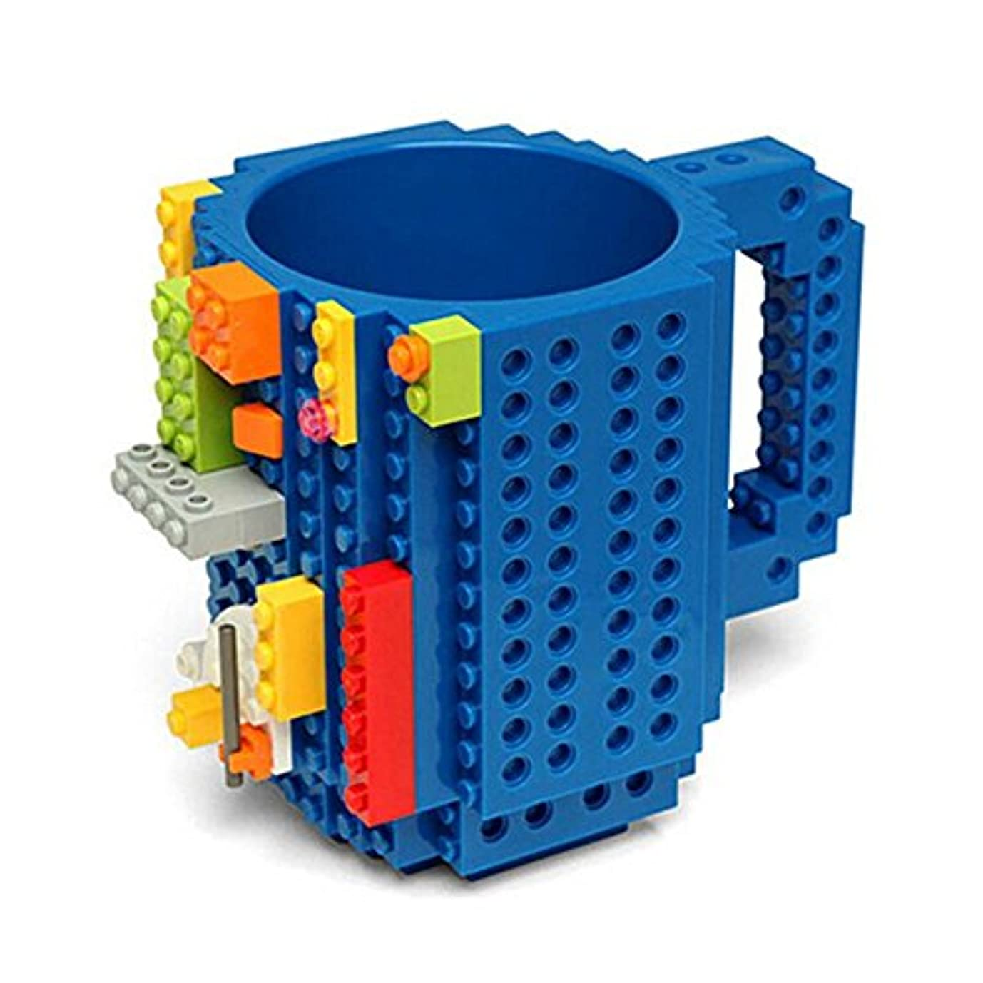 ブッシュモンク受け入れたMaxcrestas - 350ML DIY?ビルディング?ブロックのカップレンガコーヒーティーカップ凍った水のドリンクカップDIYブロックパズルシッククリエイティブホームDrinkwares
