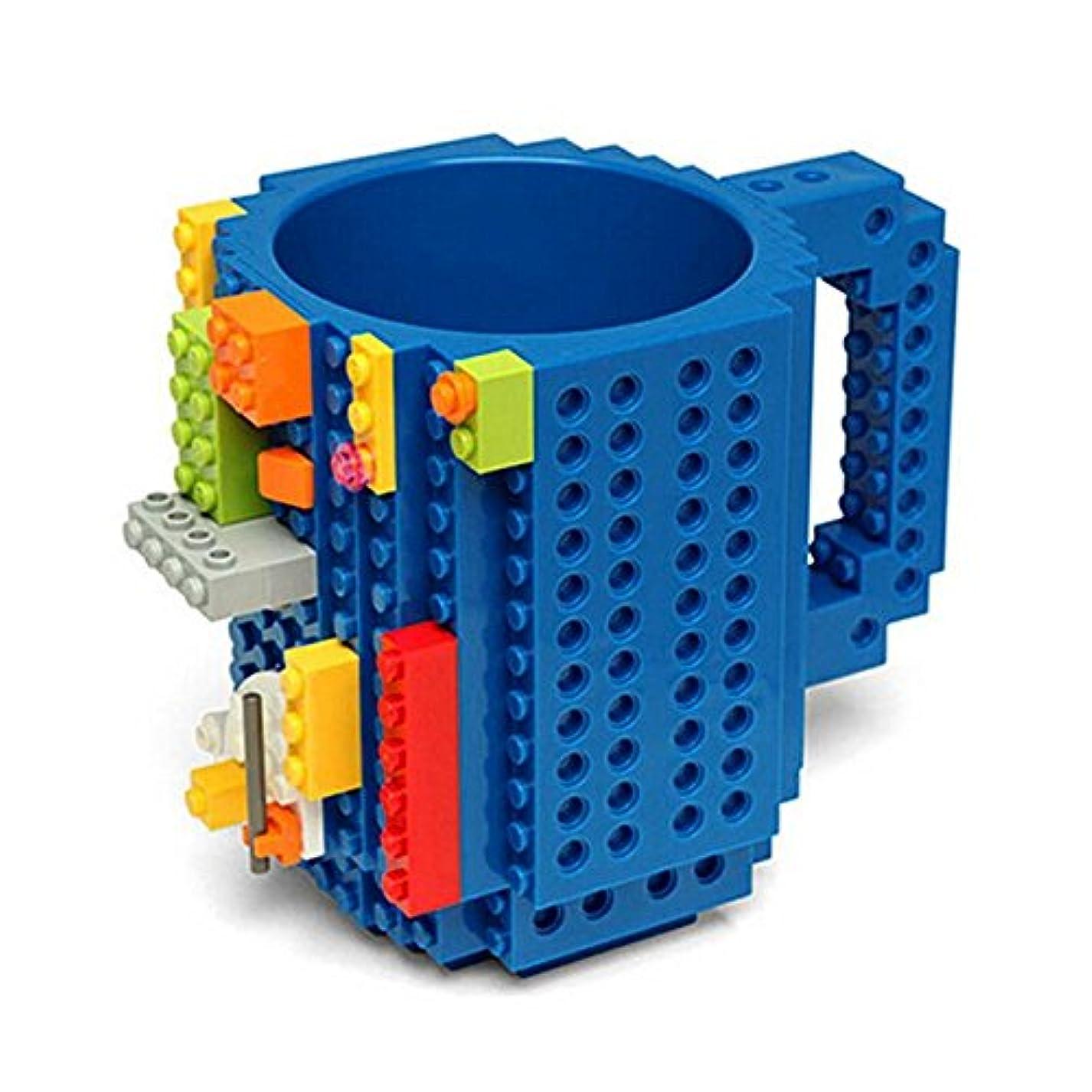 かろうじて興奮する感嘆符Maxcrestas - 350ML DIY?ビルディング?ブロックのカップレンガコーヒーティーカップ凍った水のドリンクカップDIYブロックパズルシッククリエイティブホームDrinkwares