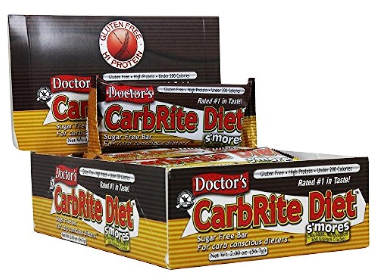 お酒連鎖フルーツUniversal Nutrition, Doctor's CarbRite Diet Bar, Sugar Free, Smores, 12 Bars, 2.00 oz (56.7 g) Each