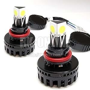 RK-ONLIE HS5 バイク用PCX125/PCX150対応LEDヘッドライトキット:2球:20W-6500K:減光対応モデル