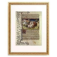 Handschrift 「Zug der Heiligen drei Konige. Aus Buch der Wunder ms.fr.2810」 額装アート作品