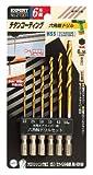 リリーフ(RELIFE) チタンコーティング六角軸ドリルセット鉄工用 6本組 21901