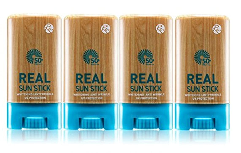REONE リアル サンスティク20g PA++++UVA UVB 日焼け止め サンスクリーン 紫外線遮断 三機能性 透明肌 保護膜 4本セット 海外直送品 (Real Sun Stick 20g PA ++++ UVA...
