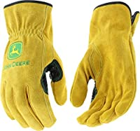 West Chester John Deere JD00004 Premium Split Cowhide Leather Driver Work Gloves: Medium%カンマ% 1 Pair [並行輸入品]