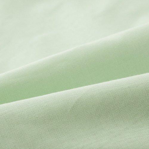 エムール 綿100% ワンタッチシーツ シングル 「プレッソ」 日本製 グリーン