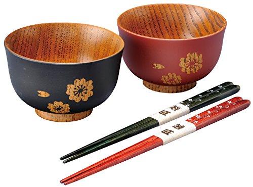 桜 夫婦椀セット 桜箸付 HSWA