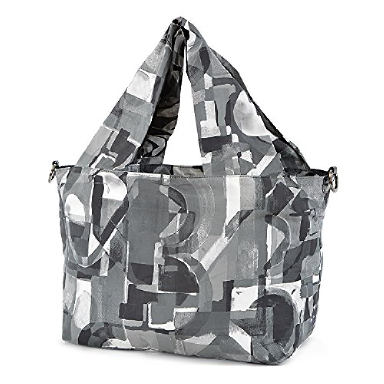 さくらスリングトートバッグ【Made in Tokyo】大容量収納デザイントートバッグ?荷物負荷軽減デザイン幅広ハンドル (グレイ) SST-003