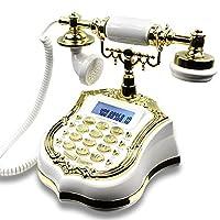 アンティーク電話ヨーロッパのアンティークガーデンレトロテクノロジー電話番号固定固定電話黒梨木優雅な白240mm * 200mm212mm (色 : A)