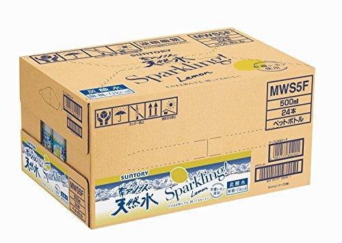 〔炭酸水〕 サントリー 南アルプスの天然水 スパークリングレモン 500ml×24本