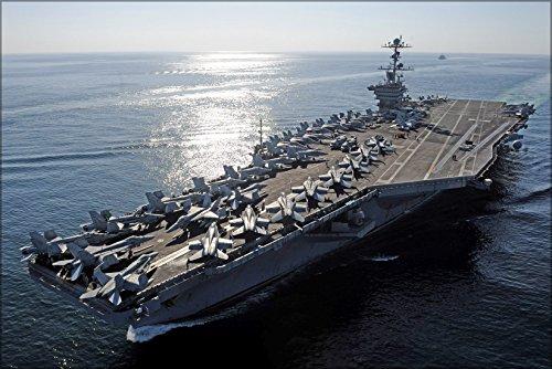 24x 36ポスター; Aircraft Carrier USS JOHN C STENNIS ( CVN 74) Hormuzの海峡