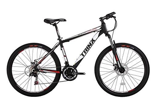 TRINX(トリンクス) 【マウンテンバイク】 ダブルディスク SHIMANO21SPEED 軽量アルミAL6061 MTB 26インチ ブラック/ホワイト M136 ブラック/ホワイト