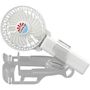 えりかけ扇風機 BodyFan(服の中へ送風可能)冷却タオル首かけ/手持ち/日傘/ヘルメット/ベビーカー兼用 USB充電池式 携帯扇風機 (3インチファン, 白)