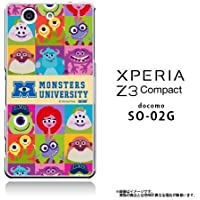 XPERIA Z3 Compact SO-02G 専用 【Disney/ディズニー】「モンスターズインク/MONSTERS UNIVERSITY」クリアケース サリー/マイク (ALL CAST)