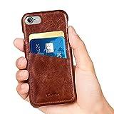 iPhone 7 ケース Benuoアイフォン7本革レザーケース 高品質 手作り カード収納 シンプル 超薄型 ビジネス風 取り出し易い 背面カバー Apple iPhone7用 (ブラウン)