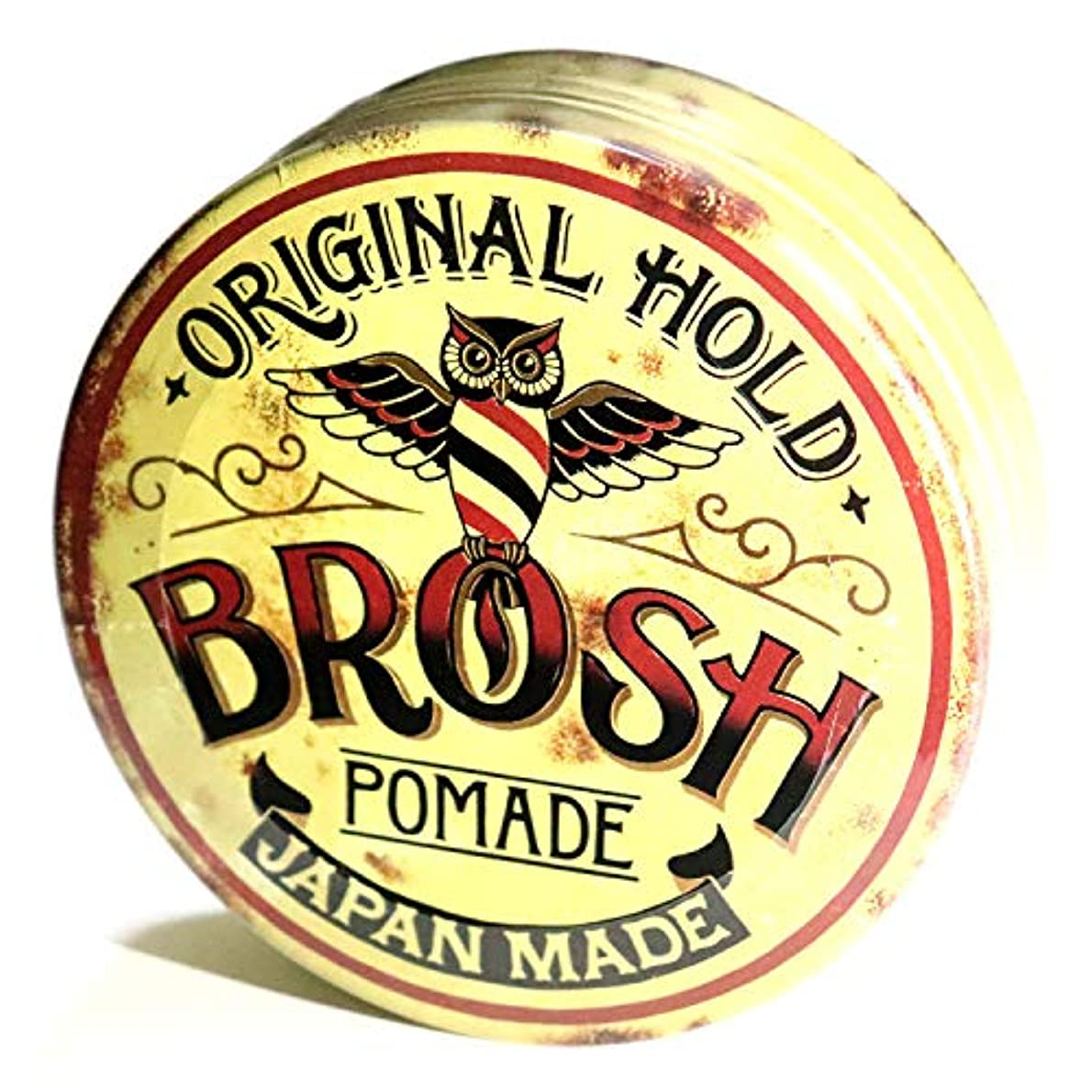 石の代わってコンプライアンスBROSH (ブロッシュ) BROSH POMADE ORIGINAL HOLD 115g 水性ポマード 整髪料