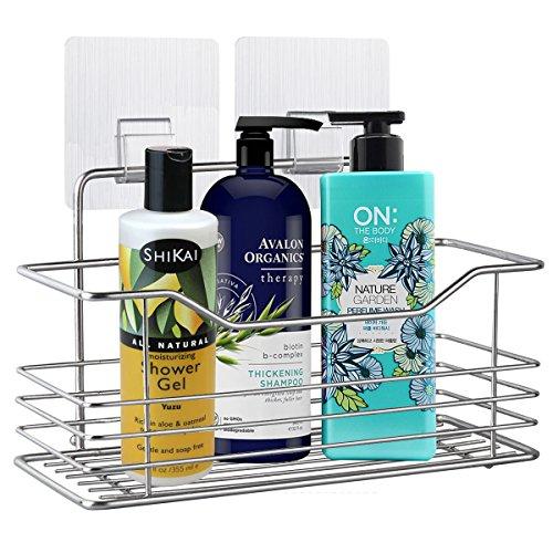 浴室用ラック バス用品 お風呂 1段 シャンプーラック シャワージェルラック 工具不要 強力粘着フック付き