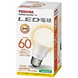 東芝 LED電球 一般電球形 広配光タイプ 60W形相当 電球色 E26口金 LDA8L-G-K/60WST