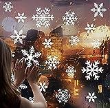 ウォールステッカー クリスマスス 雪の結晶 雪の華 雪花 サンタ 雪 x-mas xmas christmas シール 壁紙 インテリア 部屋 クリスマス 飾り北欧 木 雑貨 ガラス 窓 DIY オーナメント パーティ 飾りつけ ツリー (2PCS) takehome (白い雪)