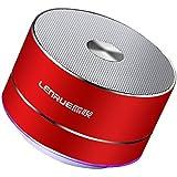 Lenrue Bluetooth スピーカー ポータブル ブルートゥース スピーカー ミニ ワイヤレススピーカー 高音質 低音強化 3W拡声器 マイク内蔵、LEDライト、AUXケーブル、TFカード、Micro USB、iPhone/iPad/Android/タ ブレットなどに対応 (レッド)