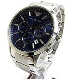 [エンポリオ・アルマーニ]Emporio Armani 腕時計 AR2448 クロノ サファイヤメタリック文字盤 メンズ 中古