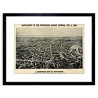 Map Providence 1895 Framed Wall Art Print