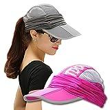 EIGER HORN(アイガーホーン) ゴルフ 帽子 レディース 日よけ 帽子 UVカット 日焼け 紫外線防止 テニス アウトドア (ローズ)