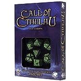 Call of Cthulhu CoC コールオブクトゥルフ TRPG ダイスセット ブラック&グリーン 7周年エディション