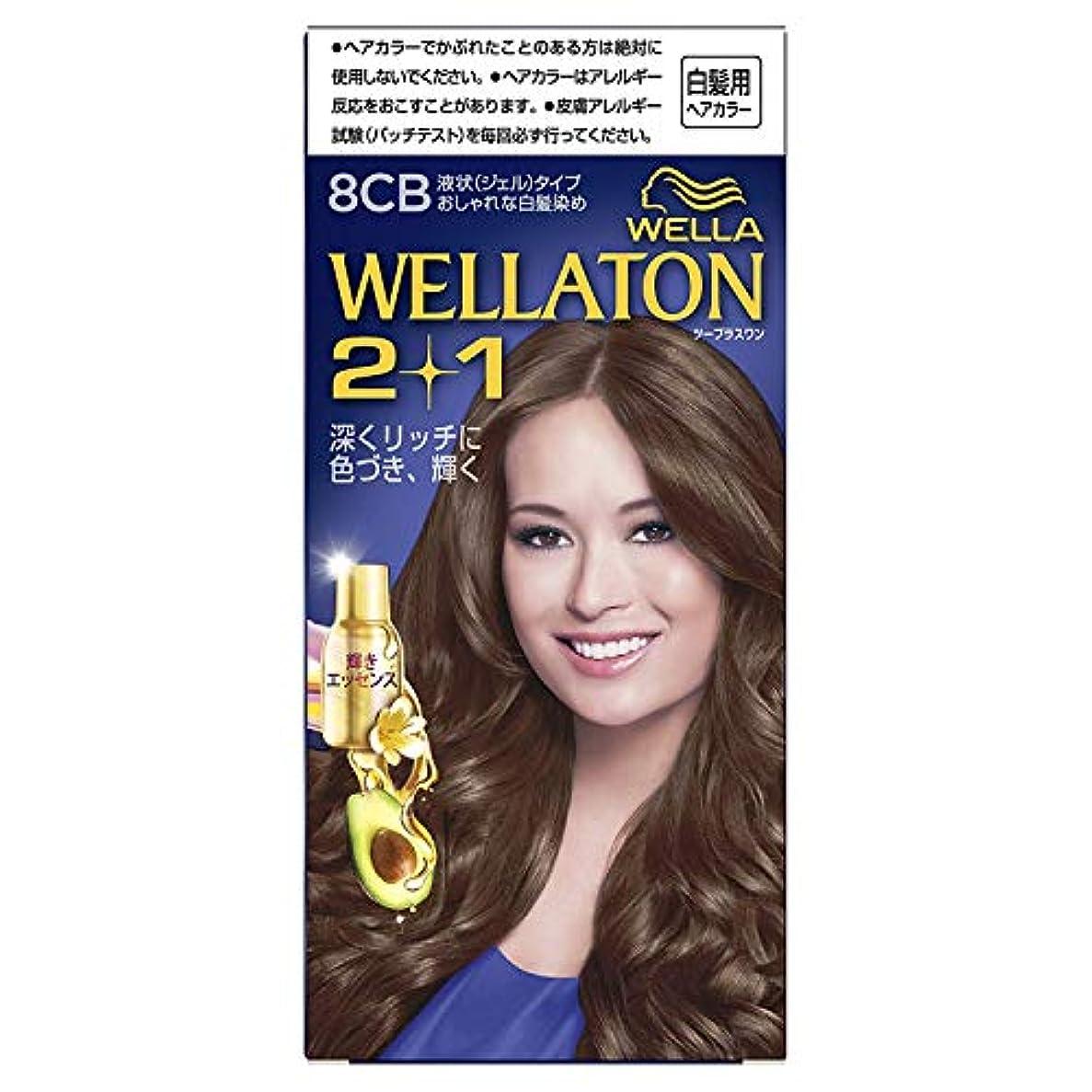 蜜バスルーム適応するウエラトーン2+1 白髪染め 液状タイプ 8CB [医薬部外品] ×6個